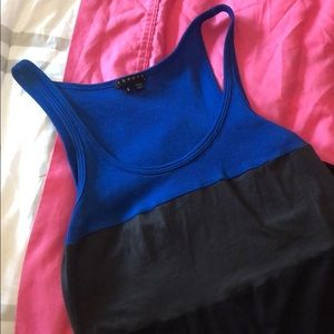 Theory tri-color tank - like new - Small